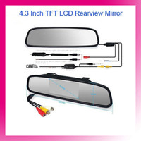 Wholesale 4 Inch TFT Car Monitor Mirror View Rearview Auto LCD Screen for Car Reversing Backup Camera