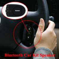 Wholesale Bluetooth Car Kit Speaker Steering Wheel Hands free Speakerphone EDR features or iphone S Samsung Galaxy Note Nokia