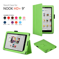 7'' For Apple For Ipad 2/3 Wholesale - 200pcs lot Folio Stand Leather Case Cover Pouch Shell For Barnes&Noble B&N Nook HD+ 9' Tablet