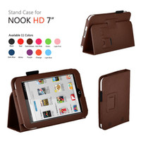 7'' For Apple For Ipad 2/3 Wholesale - PU Leather Case Cover With Stand For Barnes & Noble Nook HD 7 inch Tab 100pcs lot