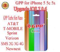 For Apple iPhone att gsm cdma - Upgrade Nano sim unlock iphone5 G GPP5 GPP S GPP C turbo Sim FOR iPhone iOS7 CDMA GSM ATT AT amp T T MOBILE Sprint NETELL