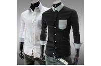 Men Cotton Long Sleeve Wholesale - Factory outlets 2014 new Slim men's long sleeve shirt lapel silk frock,fashion men's shirt ,hot sell