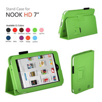 7'' For Apple For Ipad 2/3 Wholesale - Wholsale 200pcs lot PU Leather Case Cover With Stand For Barnes & Noble Nook HD 7 inch Tab