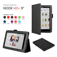 7'' For Apple For Ipad 2/3 Wholesale - Newest ! Folio Leather Case Cover With Stand for Barnes Noble NOOK HD + Plus 9 inch 9'' Tablet