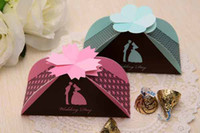 Wholesale Pink Blue European Style Fashion Maple Leaves Wedding favor paper box favour gift candy boxes colors K0507