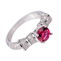 Wholesale White Gold Plated Sterling Silver Female Jewelry Gemstone Inlaid Silver Ring GNJ0213 GNJ0214 GNJ0215