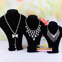 Jewelry Stand earring display stand - Black Velvet Neck Model Have sizes Necklaces bracelets Pendant Display Jewelry stand Mannequin