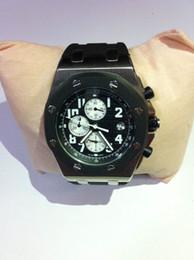 Wholesale best quality Men s Swiss OS movement Royal Oak Offshore Watch Black dial quartz Chronograph AAA Top quality Men s Watches