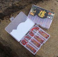 Cheap Power Fishhooks 4 pcs lot 7# 8# 9# 10# 11# 12# Carp Explosion Fishing Hooks High Carbon Steel Powder Bait Trap Hook Sysrem Fishing Tackle