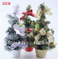 Christmas Tree Christmas Decoration Supplies  5pcs Christmas table decoration bonsai trees window display table layout free shipping
