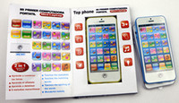Wholesale English amp Spanish Language YPhone Iphone Toy Mobile Phone English Educational Gift for Kids with light Coours