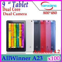 Wholesale DHL Inch A23 Dual Core Tablets Android Allwinner A23 Ghz MB RAM GB WIFI Dual Camera MID YX MID