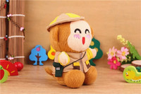 Emergency Chargers   New Arrival 2200 mAh Power Bank Plush Monkey Mobile Power Portale Mini External Battery Mini Cute Monkey Emergency power Bank free shipping