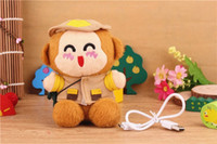 Emergency Chargers   100pcs lot New Arrival 2200 mAh Power Bank Plush Monkey Mobile Power Portale Mini External Battery Mini Cute Monkey Emergency power Bank