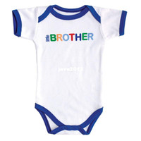 Summer baby boy sayings - Baby boy Romper Family Sayings little brother Short sleeve Bodysuit Baby clothing Wild Boy months