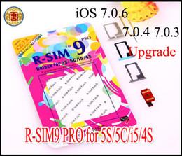 Wholesale Original R SIM r sim RSIM pro GPP GEVEY card Unlock Sim for upgrade iOS7 Unlock iPhone S C S gpp ios