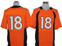 Wholesale Elite Jerseys American All Team Football Orange Jerseys Jersey Mix Order