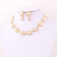 Cheap Bracelet,Earrings & Necklace jewelry set Best Celtic Women's pearl Jewelry Set