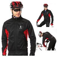 Buena calidad WOLFBIKE de polar chaqueta de ciclo de la manga larga Jersey de invierno al aire libre a prueba de viento del viento Deportes Escudo ciclo de la bicicleta del desgaste Ropa