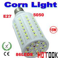 SMD led corn light e27 - 220V Indoor lighting led corn light E27 W SMD LED Corn Lights watts Bulb Lamp for home bedroom shopping center V V AC