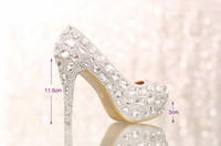 Wedding Heels High Heel 2014 Luxury Crystals Silver Wedding Shoes High Heel Bridal Shoe with Platform Anniversary Party Nightclub Prom Shoes