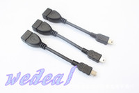 Wholesale OTG Cable Micro USB Mini USB B Male to A Female tablet pc China post sample cheap Hot