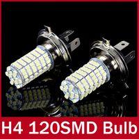 Turn Signals Honda Light Sourcing 2 x Xenon White Parking H4 LED 12V Light Car LED Fog Daytime Running Light Bulbs Lamp 12V High Power Bright White 120 SMD Truck