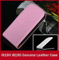 For Samsung Leather Yes England Magnetic Genuine Leather Flip Cover For Samsung Galaxy S4 Mini i9190 S3 Mini i8190 Phone Luxury Holster Case FREE SHIP