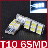 Wholesale 5X led lamp T10 W5W LED SMD White Car Side Wedge Non polarity Light Lamp Bulb for Benz BMW Audi Porsche