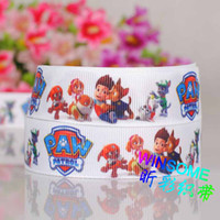 Wholesale 10yards quot mm paw patrol dogs cartoon printed ribbon package cartoon DIY package grosgrain ribbon