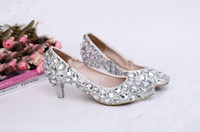 Wedding Heels Kitten Heel 2014 Sexy Crystal Wedding Dress Shoes 5cm Middle Heel Comfortable Bridal Shoes Silver Woman Party Prom Shoes Bridesmaid Shoes