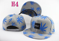 Wholesale 2014 New Fashion Maple Leaf Printed HUF Baseball Caps For Adult Snapback Hip Hop Flat Brim Hats MIX Colors For Choose