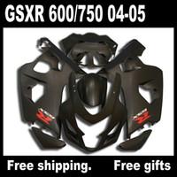 al por mayor suzuki gsxr750 fairing-S6418 kit de carenado negro mate para SUZUKI 2004 2005 GSXR 600 750 K4 GSXR600 GSXR750 04 05 carrocería de kits de carenados gsr 750