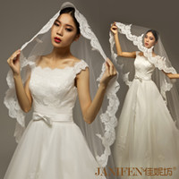 Cheap New arrival car gala laciness wedding veil lace train bridal veil 3 meters long ivory