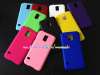 Wholesale Rubberized oil Rubber Hard Plastic Colorful skin back cover case cases For Samsung Galaxy S5 I9600 SV amp Galaxy S5 Mini Active