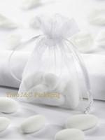 Wholesale x7cm White Organza Bag Christams Wedding Gift Bags Jewlery Bags Gift packing Pouches JCO ZA01