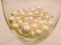 Wholesale mm mm mm Beige Round Imitation Pearl ABS Plastic Loose Beads Bridal Shower Pearl