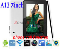 """4.8 inch Single Core Android 4.0 7"""" Android 4.0 Allwinner A13 512M 4GB dual camera phone call tablet with sim card slot tablet pc with GSM,Free Shipping"""