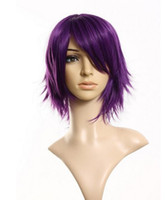Wholesale Cool2day cm Layered Flip Out Heat resist Theater Cosplay Wig Purple JF010683