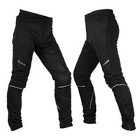 Wholesale WOLFBIKE Sport Fleece Thermal Winter Cycling Pants Bike Windproof Tights Men s Sportswear Racing Bike Compression Leisure Pants