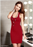 Runway Cotton Spaghetti 2014 new women Sexy naked cross dress back WTC016