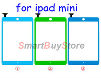 Wholesale Touch Screen Digitizer Frame Bezel Home Button Assembly for iPad mini Red Pink Blue Green Yellow