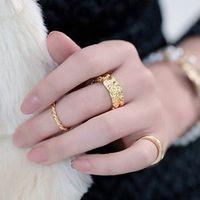 Band Rings Celtic Women's 18K Gold Silver Rose Gold Hemp Party Midi Rings for Women Finger Knuckle Rings Korean Drama r034