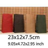 Paper Hand Length Handle Kraft Paper Free Shipping Wholesale 100pcs lot Size L9.05*W4.72*H2.95 inch Paper Bags Without Handle High Quality BB-175