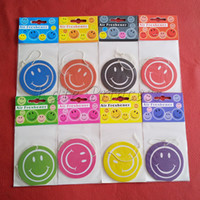 Wholesale Smile Face designs paper air freshener paper perfumed car air freshener mix color AF