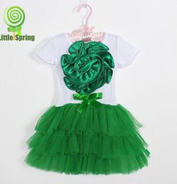 MXZA Girls Dresses Summer 2016 New Fashion Large Beautiful Flowers A Line Off The Shoulder Summer Girls Princess Tutu Dresses 4sizes set