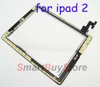 Wholesale 10pcs high quality Touch Screen Digitizer with Home Button Assembly for ipad black and white color DHL EMS