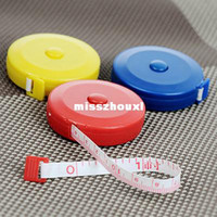 Wholesale Hot Inch cm Plastic Tape Measure Tapeline Measuring Tool Retractable Ruler Tailor Sewing Cloth Soft Tape