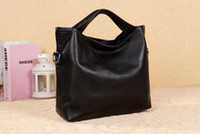 Wholesale Black Double Handles Cowhide Leather Cotton Tote Handbag purses u5 zc