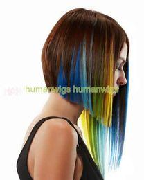 "Highlight Single Clip in Hair Extension,Hair Extensions, 18"" ,yellow,5g pcs, 10pcs lot"